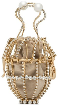 Rosantica Ginestra crystal-embellished clutch