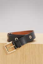Sofie D'hoore Leather belt with eyelets