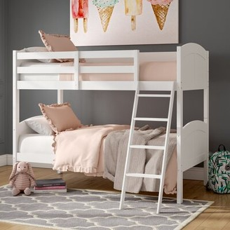 Viv + Rae Romo Twin over Twin Bunk Bed Bed Frame Color: White