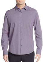 Vince Melrose Neat-Print Cotton Sportshirt