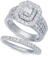 Macy's Diamond Halo Bridal Set (2-1/2 ct. t.w.) in 14k White Gold