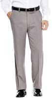 Haggar Tonal Stripe Dress Pants - Classic Fit, Flat Front, Hidden Expandable Waistband