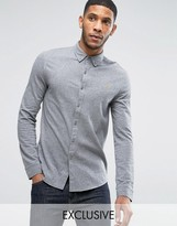 Farah Pique Jersey Shirt Exclusive in Gray