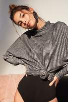 Out From Under Amelia Striped Mock Neck Top