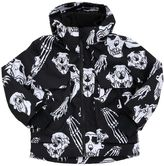 Molo Waterproof Skull Print Nylon Ski Jacket