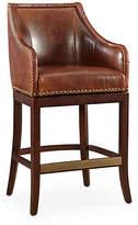 One Kings Lane Manchester Leather Swivel Stool - Saddle - Counter Stool