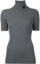 Rochas roll neck ribbed sweatshirt - women - Cashmere - 40