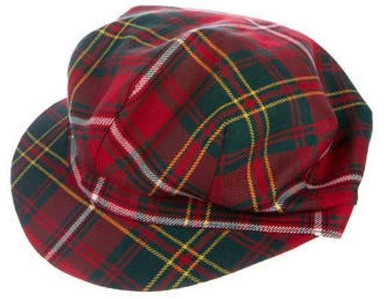 Burberry Check Newsboy Hat Red Check Newsboy Hat
