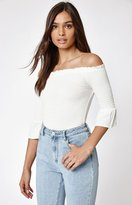 KENDALL + KYLIE Kendall & Kylie 3/4 Sleeve Off-The-Shoulder Top