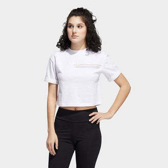 adidas Women's Pride Linear Crop T-Shirt