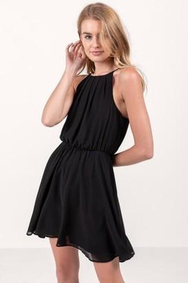 francesca's Flawless Solid Dress in Black - Black