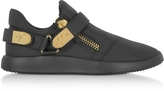 Giuseppe Zanotti Black Leather Low Top Men's Sneakers