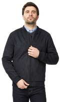 J By Jasper Conran Big And Tall Navy Waxed Bomber Jacket