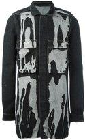 Rick Owens bleach stain denim jacket
