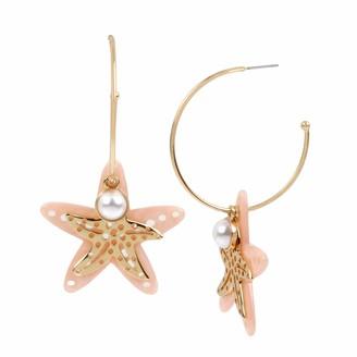 Betsey Johnson Starfish Charm Convertible Hoop Earrings
