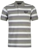 Everlast Mens Stripe Polo Tee Shirt Top Short Sleeve Fold Over Collar Cotton