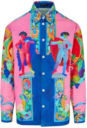 Versace Technicolor Painting Denim Jacket