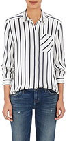 ATM Anthony Thomas Melillo Women's Striped Silk Satin Shirt