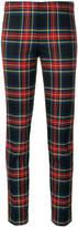 P.A.R.O.S.H. tartan slim-fit trousers