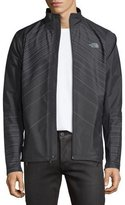 The North Face Isotherm Line-Print Weather-Resistant Running Jacket, Black