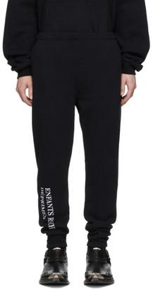 Enfants Riches Deprimes SSENSE Exclusive Black Embroidered Logo Lounge Pants