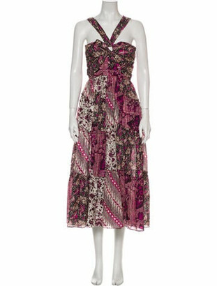 Ulla Johnson Printed Long Dress Purple