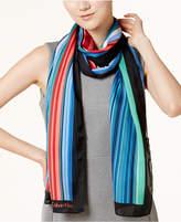 Calvin Klein Multicolor Shadow Striped Scarf