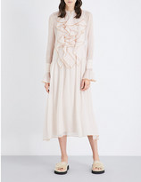 See by Chloe Ruffled chiffon dress