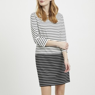 Vila Breton Striped Shift Dress with Long Sleeves