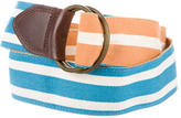 Dries Van Noten Canvas Striped Belt