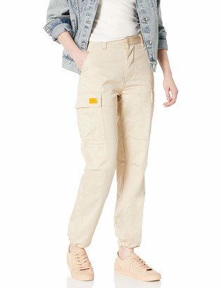 Obey Women's High Rise Cargo Pant with Straight Leg
