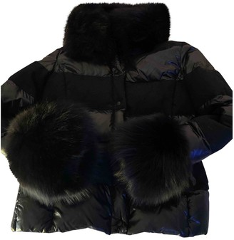 Moncler Fur Hood Black Fox Coats