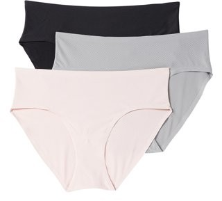 Layer 8 Women's Bonded Edge Hipster Panties, 3-Pack