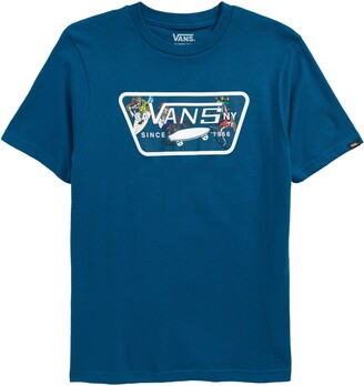 Vans Kids' Full Patch Shark Fill Graphic Tee