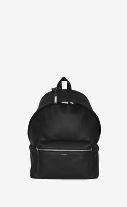 Saint Laurent Backpack City Backpack In Matte Leather Black Onesize