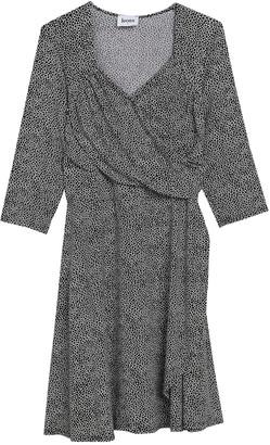Leota 3/4 Sleeve Sweetheart Mock Wrap Dress