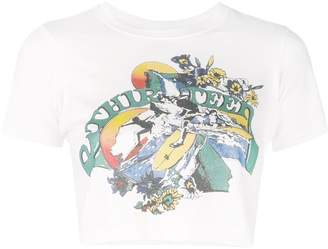 R 13 cropped graphic T-shirt