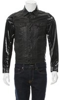 Diesel Leather Patent Leather-Trimmed Jacket