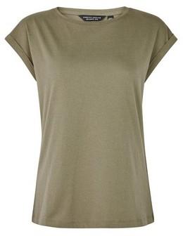 Dorothy Perkins Womens Khaki Organic Cotton Roll Sleeve T