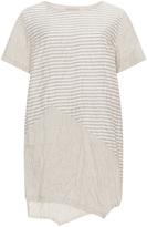 Isolde Roth Plus Size Asymmetric linen tunic