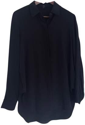 Cos Black Silk Top for Women