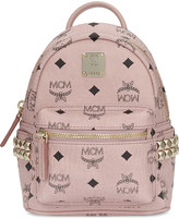 MCM Mini stark coated canvas backpack