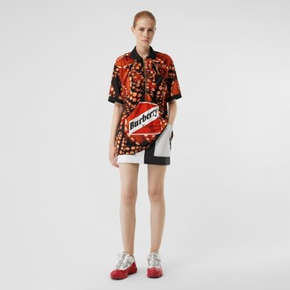 Burberry Octopus Print Stretch Jersey Polo Shirt