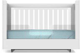 Spot On Square Roh Crib Conversion Kit, White/Acrylic