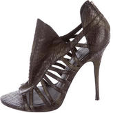 Elizabeth and James Embossed Cage Sandals