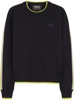 Markus Lupfer Danielle Appliquéd Wool Sweater - Midnight blue