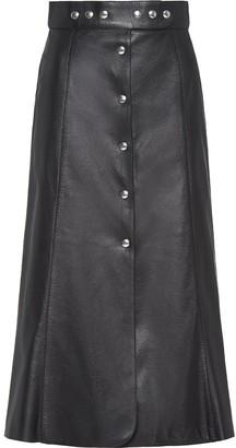Prada A-Line Buttoned Midi Skirt