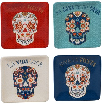 Certified International La Vida 4-pc. Canape Plate Set