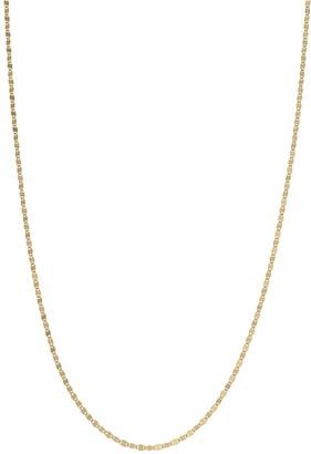 Primavera 24k Gold Over Silver Disc Chain Necklace