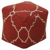 "Surya Rust Eshnuna Geometric Cube Pouf (18""X18""X18"")"